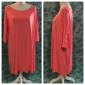 Mittoshop Sz Small Pink Casual Shift Bamboo Dress
